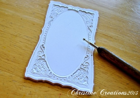 Embossing with Spellbinder dies