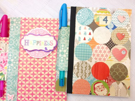 Handmade post-it note holders with pen