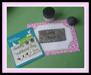 Stamping onto polymer clay