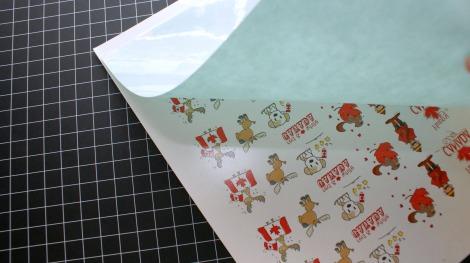 Canada Day tattoos - align adhesive sheet