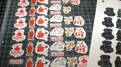 Canada Day Tattoos - cut out with Cameo
