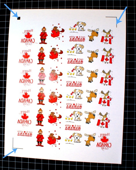 Canada Day tattoos - print images on tattoo paper