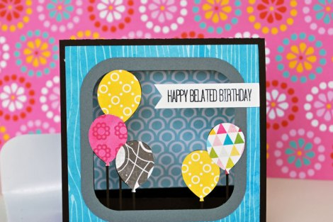 Lori Whitlock Stand Up Card Birthday Balloons by inspirednest.ca