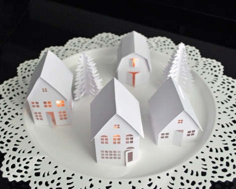 Make a Christmas Village with Silhouette Cameo