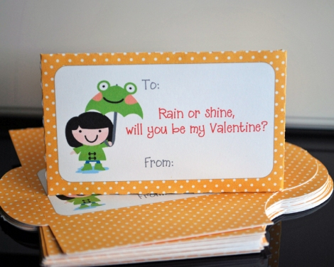 Puddle Jumping Themed Valentines