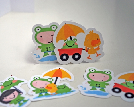 custom puddle jumping stickers