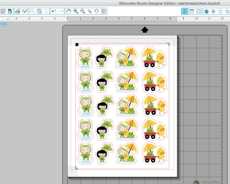 Puddle Jumping Stickers Silhouette Cameo